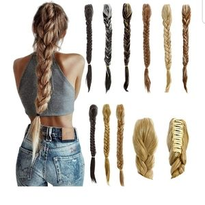 "BROWN 20"" Clip in Braid Long Fishtail"